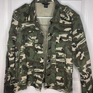 Denim camo jacket