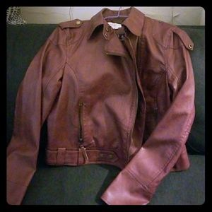 Rachel Roy Faux Leather Moto Jacket