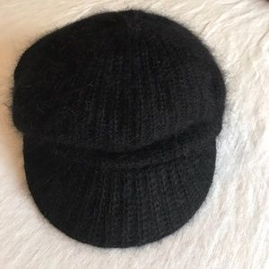 Accessories - ❄️Black Angora Blend Knitted Fashion Winter Hat🍂