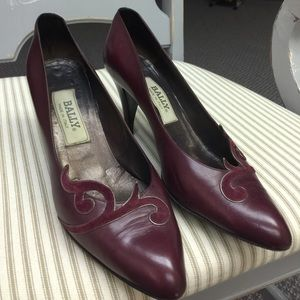 Vintage, authentic Bally Leather Heels
