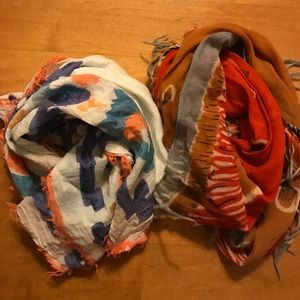 Two Madewell scarves