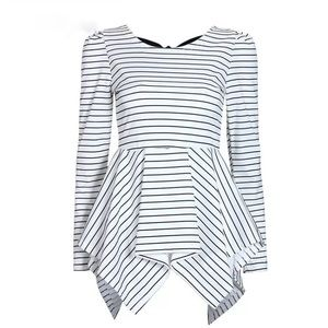 Tops - { restocked } Striped Bow Back Top