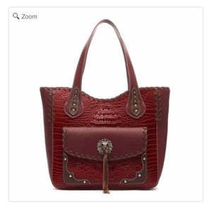 Handbags - NEW-Western Concho Crocodile Tote