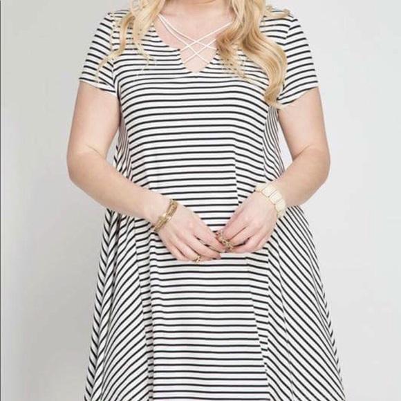 Umgee Dresses | Plus Size Striped Dress | Poshmark