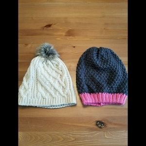 Lot of 2 Brand New Gap Winter Hats Beanie and Pom