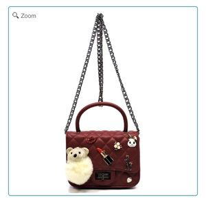Handbags - NEW-Quilted Embellished Cute Mini Satchel