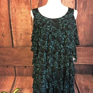 NEW BLOUSE BY SIMPLY BE SZ 20 Black n Teal Blouse