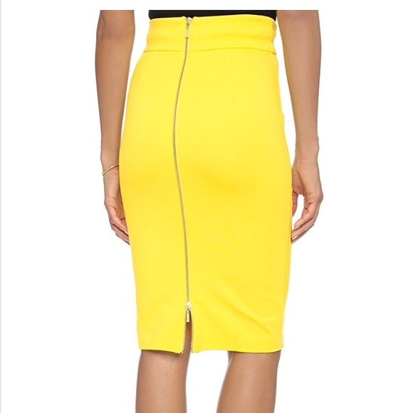 3f4249f3bd 5th & mercer Skirts | 5th Mercer Yellow Pencil Skirt With Back ...