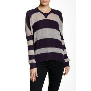 Sz M/L L.A.M.B.Mohair Striped Cocoon Crew Sweater