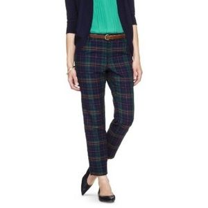 Plaid Tapered Leg Tousers