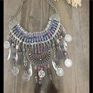 Jewelry - Large Statement Necklace Boho Tribal Ethnic Style