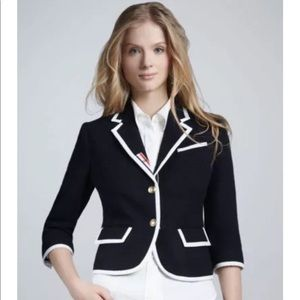 NWT navy blue wool blazer, Neiman Marcus, large