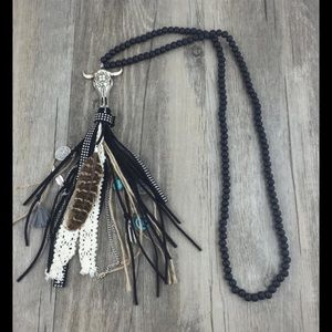 Jewelry - 🎉HP🎉 Statement Necklace Long Boho Tribal Ethnic