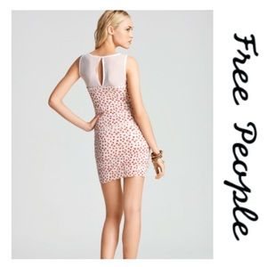 Free People | Floral Shimmy Bodycon Dress