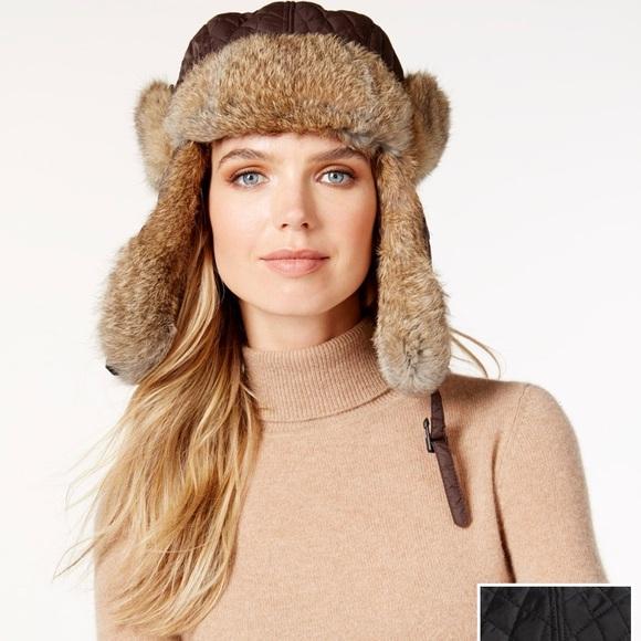 7f9c7e3674eb5 Rabbit fur trapper hat