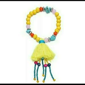 Free People Boho Tassel Bracelet