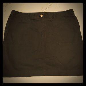 Merona black soft denim skirt size 18 GUC