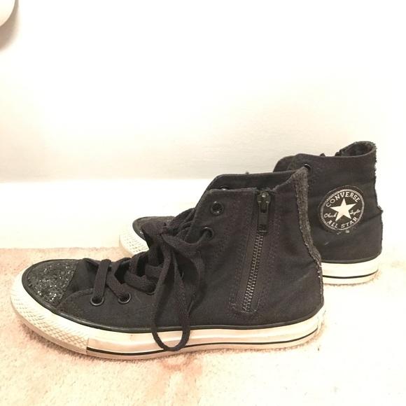 14c3de25df955 Converse Shoes - ▫️women s black glitter converse ▫️
