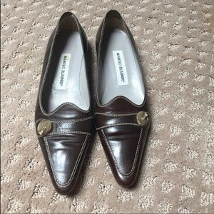 Manolo brown loafer