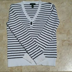 Ralph Lauren Striped V neck Sweatshirt
