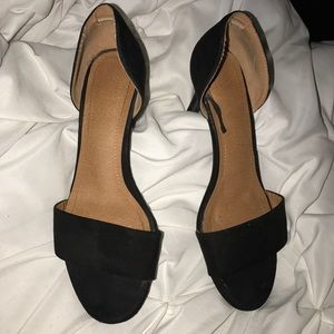 Black Suede H&M Sandal Heels