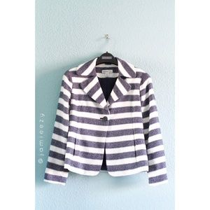 Coldwater Creek | Striped Single Button Jacket