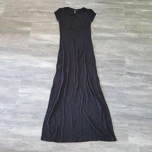 Black Basic Long Tshirt Maxi