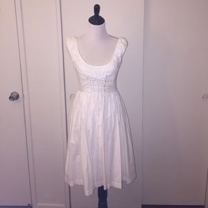 White Betsey Johnson Dress with Corset