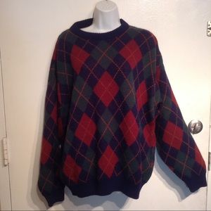 Oscar De La Renta Sweaters Menswear Argyle Diamond Sweater Poshmark