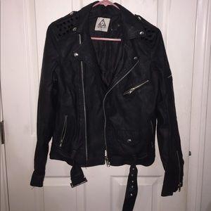 Worn UNIF spiked Moto jacket