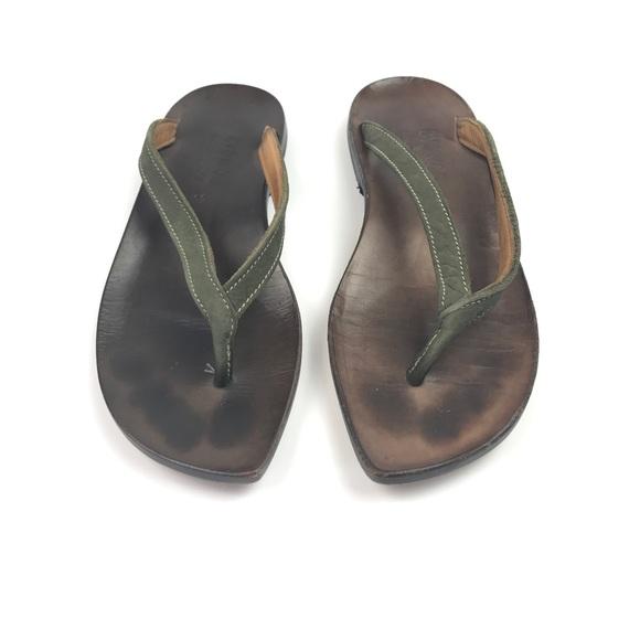 41e1fb7a1e43b7 Cydwoq Shoes - Cydwoq Zen Thong Slip On Leather Flip Flop Sandals