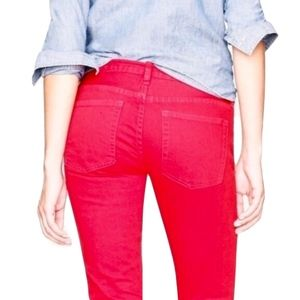 J.Crew Red Matchstick Jeans in Garment-Dyed Denim