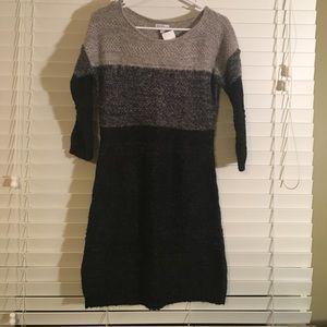 Gray Maternity Sweater Dress