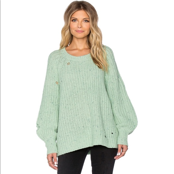f0aec20913d5 Wildfox Couture Solid Sweater in Mint Chip. M 59bb33365a49d05abd0075eb