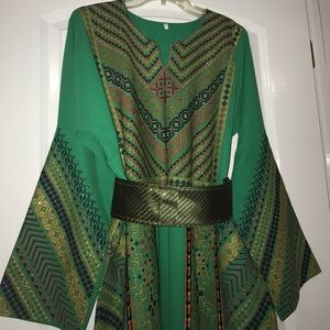 Dresses & Skirts - 💚Embroidered Green Dress Thob💚
