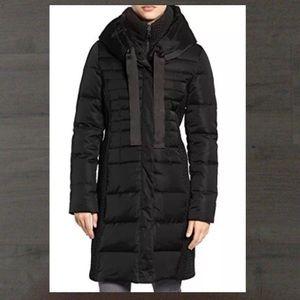 TAHARI ~ black long puffer coat Quinn style XL