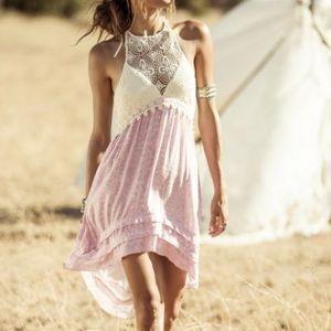 Anna Sui X Oneil Crochet High Low Dress