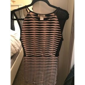 Arden B Mesh Striped Bodycon Dress