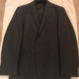 Kenneth Cole Reaction gray pinstripe suit