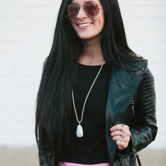Shein Jackets & Blazers - Black moto quilted sleeve zipper jacket