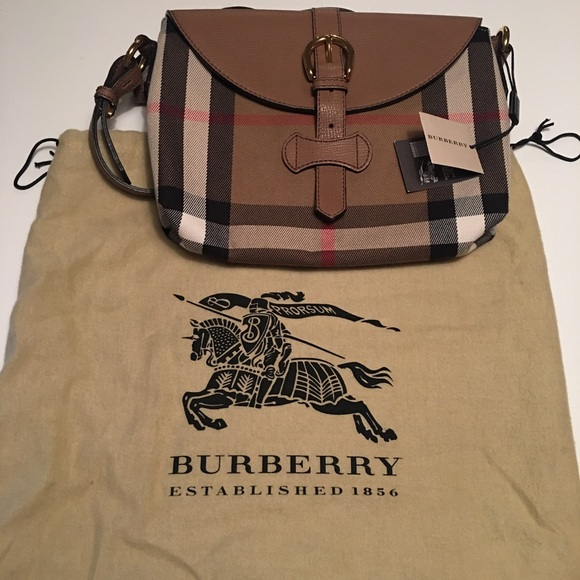 de2caf6cbc96 Burberry - Milton House Check Horseshoe Leather