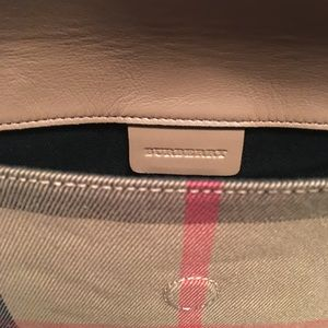 a8f6f0111cdf Burberry Bags - Burberry - Milton House Check Horseshoe Leather