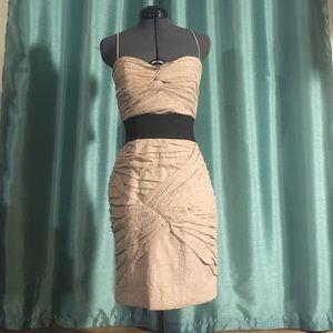 Foley + Corinna Netting Bandage Dress