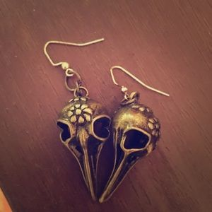 Other - Set of Plague Doctor Mask earrings & Necklace