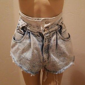 80's  Gitano Express Stone washed Jean Shorts