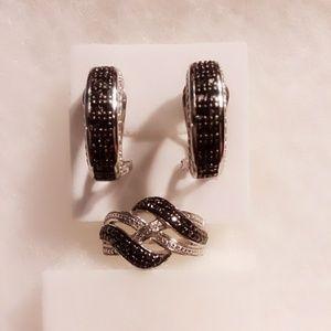 Jewelry - Gorgeous black and white diamond set