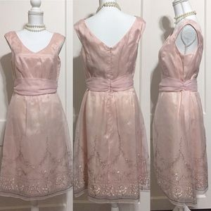 NWT •Laundry by Shelli Segal• Sheer Pink Dress