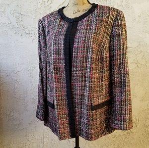 🆕Kasper -Woman- multicolor tweed blazer 24w