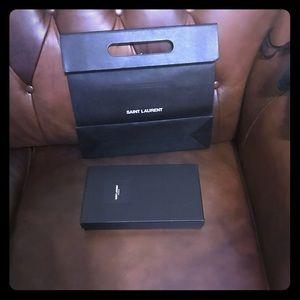 Saint Laurent wallet box