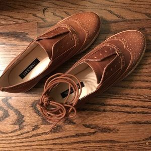 NEW Shoemint Leather Cognac Tan Shoes 36 | 6